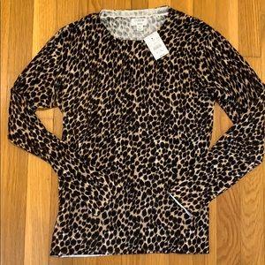 J. Crew leopard print Teddie sweater sz Small